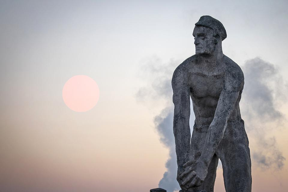 Monument, Sunrise, Sailor, The Sun, Sky, Orange Sky