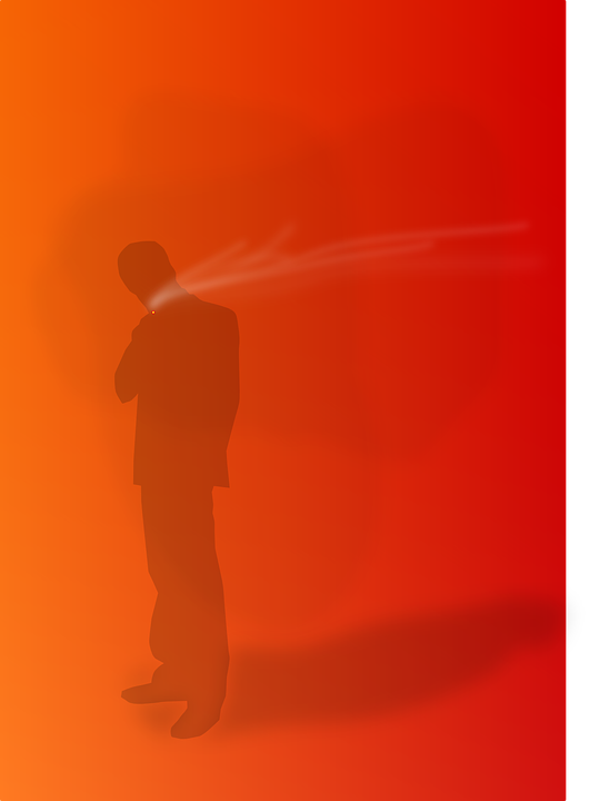 Men, Person, Smoking, Orange Smoke