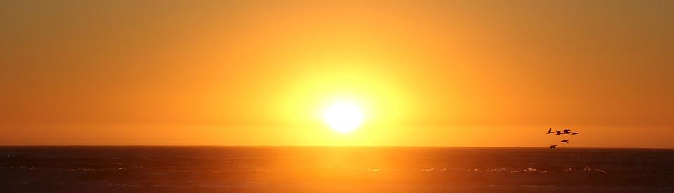 Sunset, Sun, Dawn, Evening, Dusk, Orange Sun