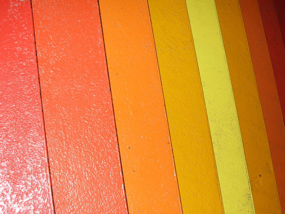 Stairs, Orange, Warm Colors