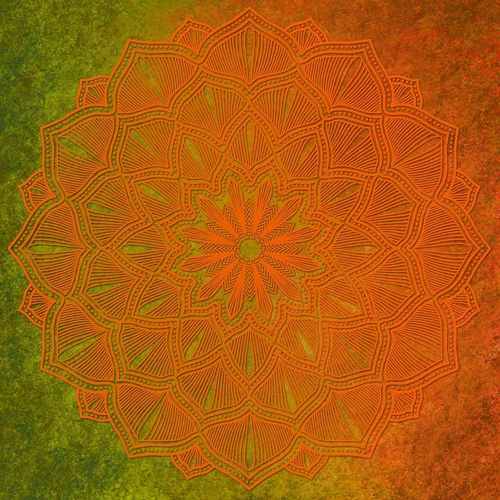 Free photo Orange Whirl Background Mandala Vintage Paper - Max Pixel