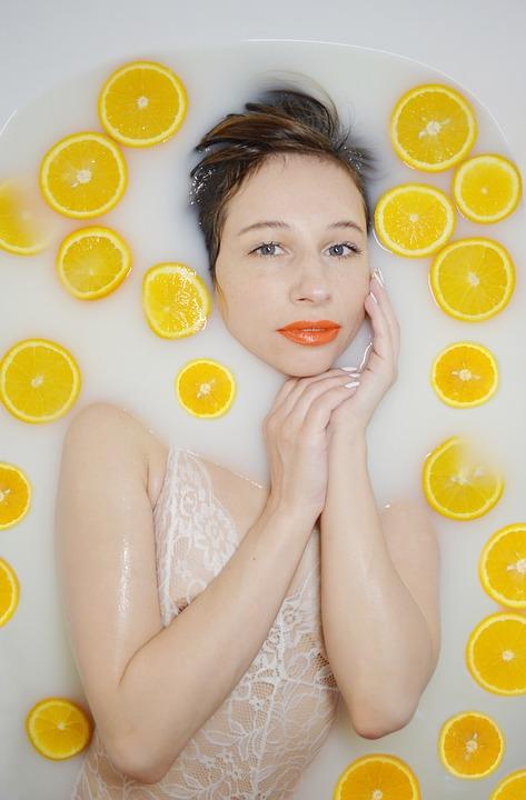 The Girl In The Bathtub, Oranges, Milk Bath