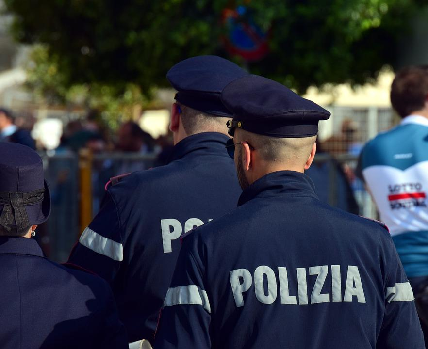 Police, Italy, Order, Blue, Uniform, Check, Guard