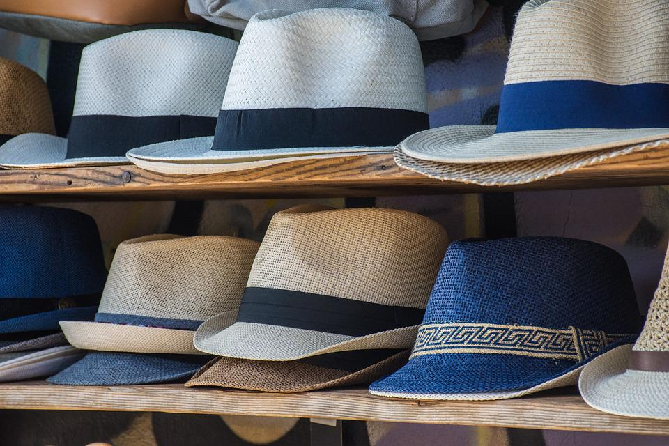 Hats, Shelving, Colors, Order, Exhibition, Lines