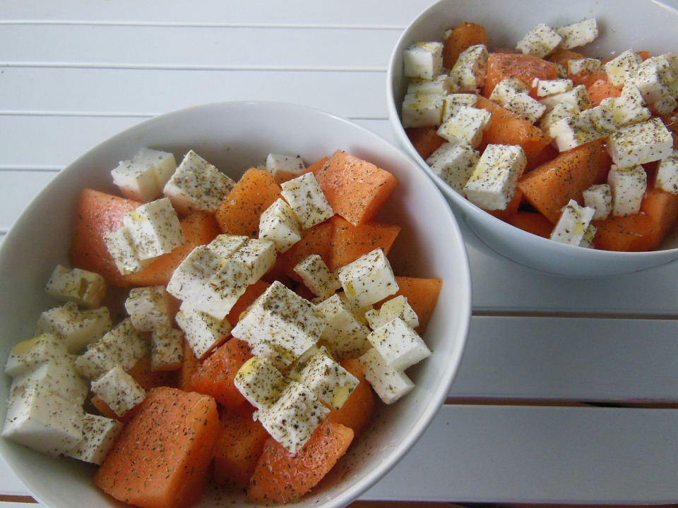 Eat, Melons, Feta, Cheese, Oregano, Greek, Delicious