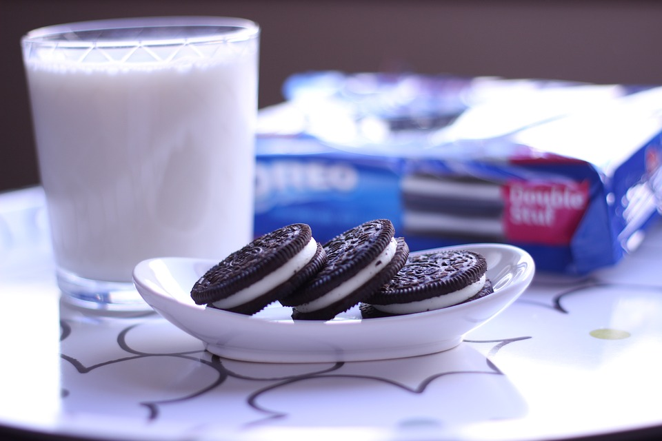 Cookies, Oreo, Milk, Dessert, Sweet, Chocolate