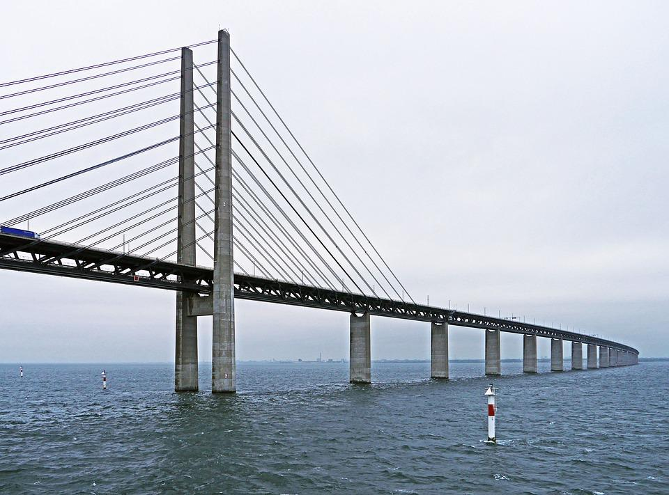 Oresund Bridge, East Side, Cable-stayed Bridge, Pylons