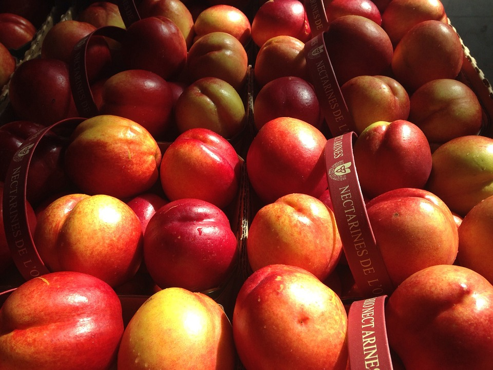 Nectarines, Fruit, Food, Healthy, Red, Sweet, Organic