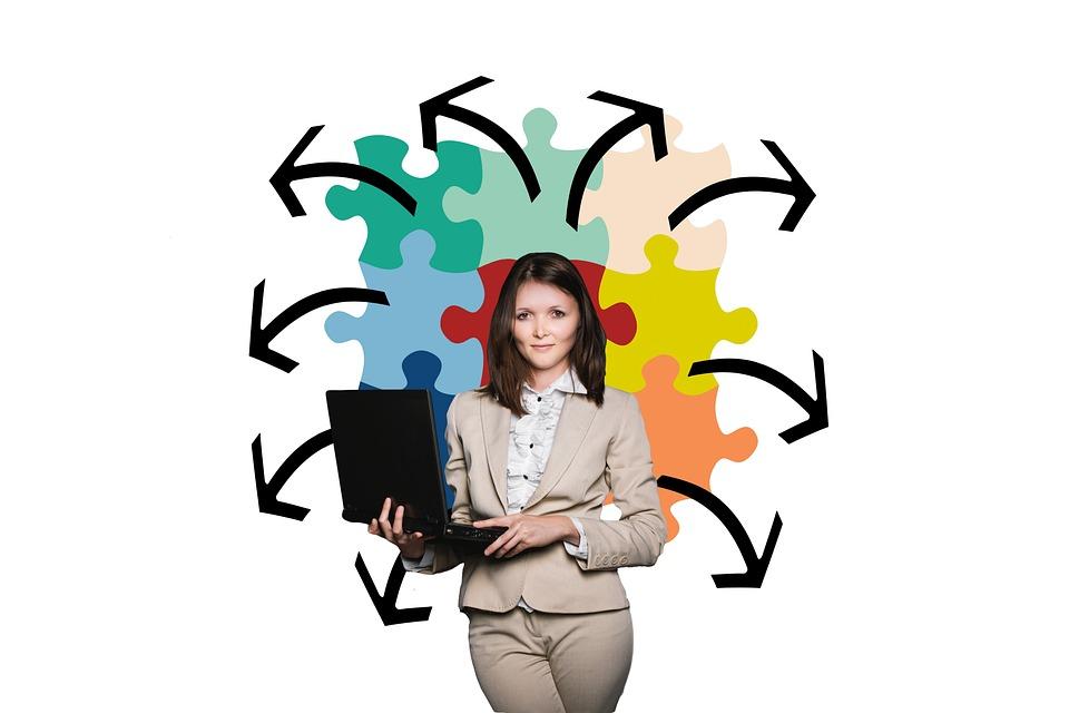 Businesswoman, Business, Puzzle, Organization, Coach