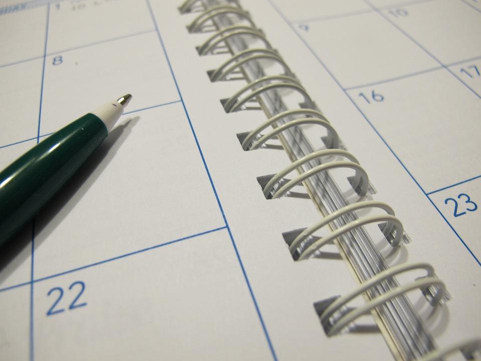 Paper, Calendar, Planner, Pen, Schedule, Organizer