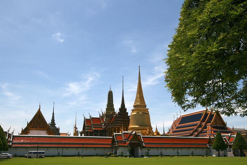 Temple, Bangkok, Orient, Vista, Landscape, Sky, Scenic