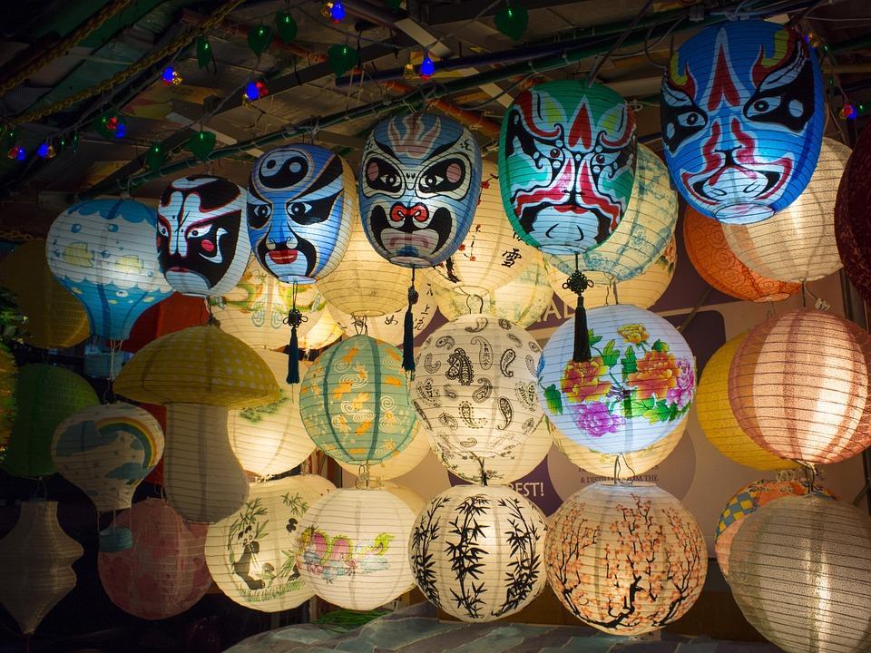 Mask, Lantern, Chinese, Oriental, Traditional