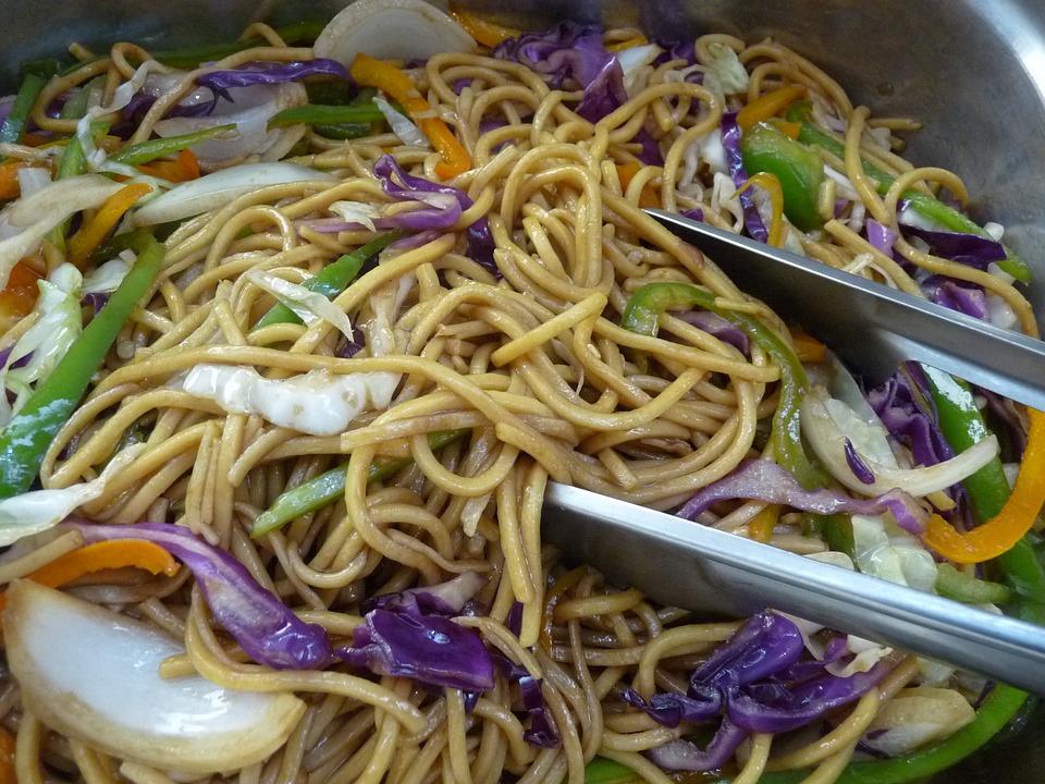 Chicken Chow Mein, Pasta, Oriental, Food