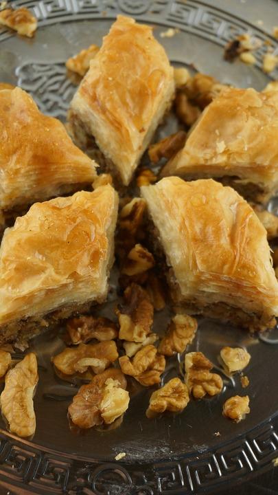 Baklava With Walnut, Oriental Kitchen, Sweet Pastries