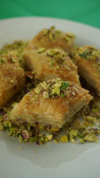 Baklava With Pistachios, Oriental Pastries