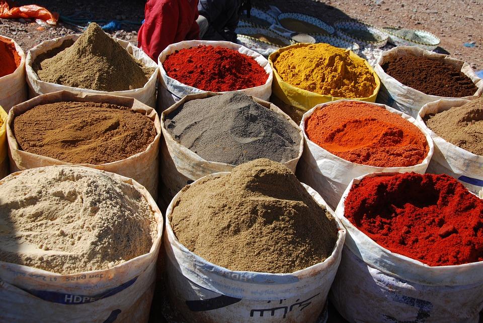 Spice, Morocco, Market, Oriental, Pots, Spices