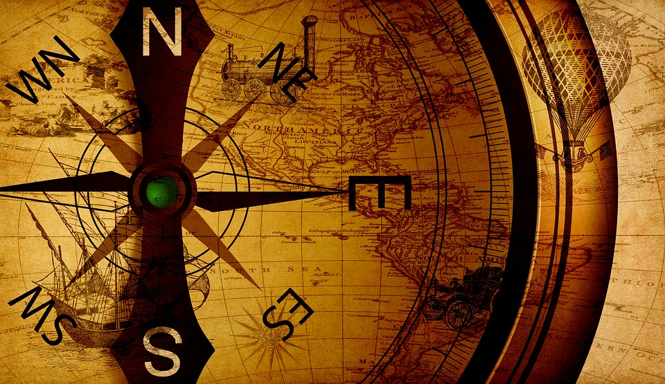 Map, Compass, Discovery, Orientation, Direction, Old