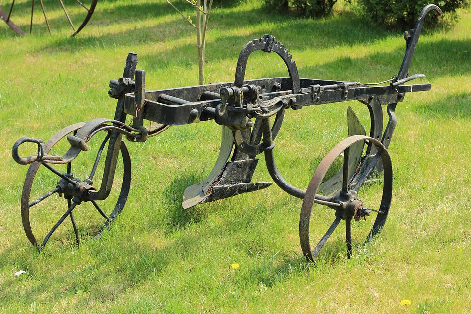 Plow, Mounted, Old, Agricultural, Orka, Field
