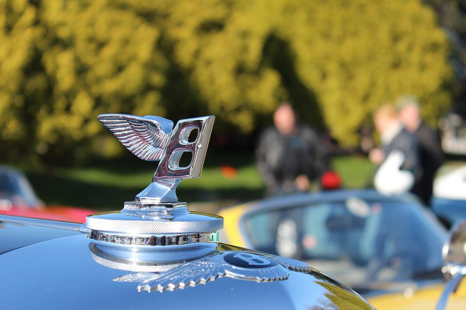 Bently, Hood, Ornament, Sign, Cars