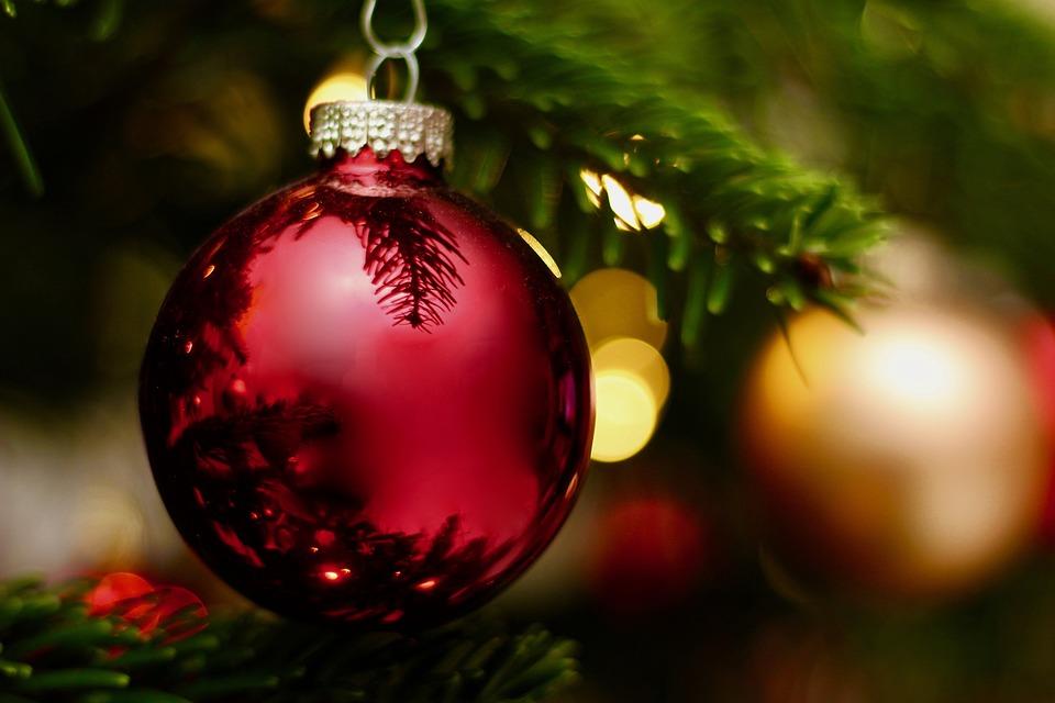 Christmas, Winter, Shiny, Ball, Ornament, Fir Tree
