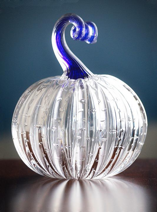 Pumpkin, Crystal, Glass, Ornament