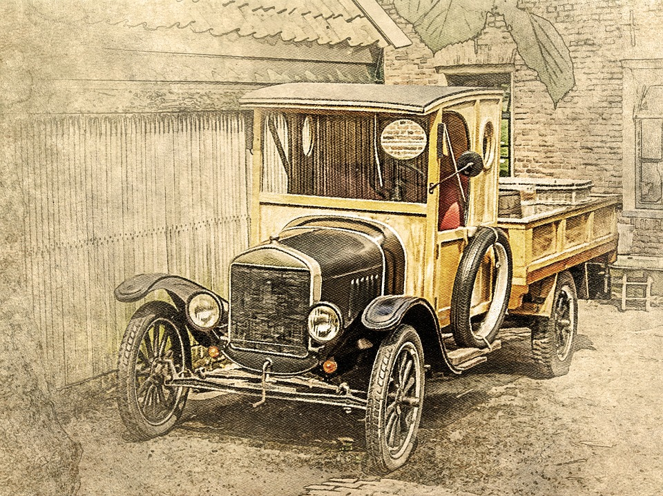 Car, Old Car, Wood, Art, Vintage, Decorative, Ornament