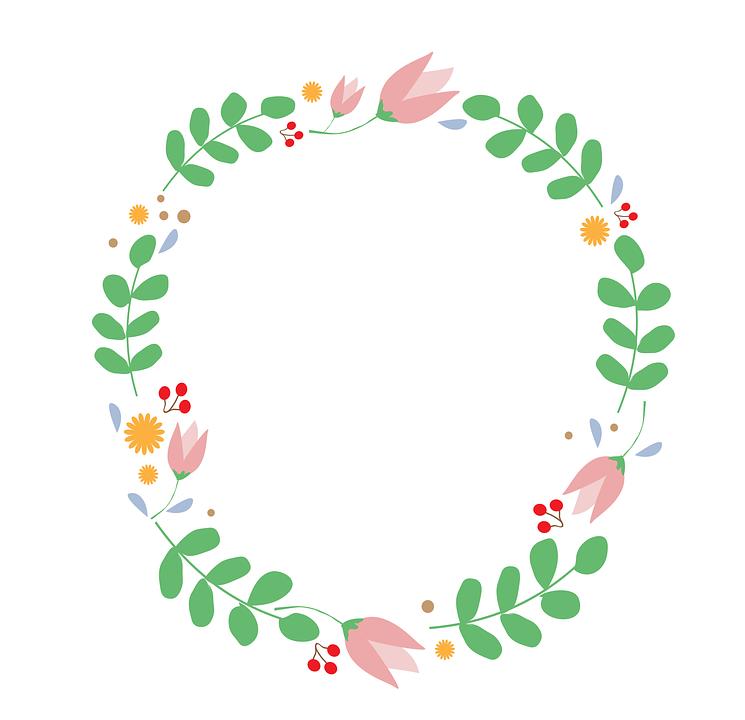 Flowers, Ornament, Frame, Border, Flower Decoration