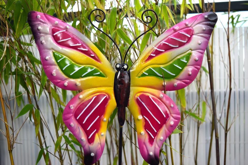 Butterfly, Colorful, Garden, Deco, Ornament, Jewellery