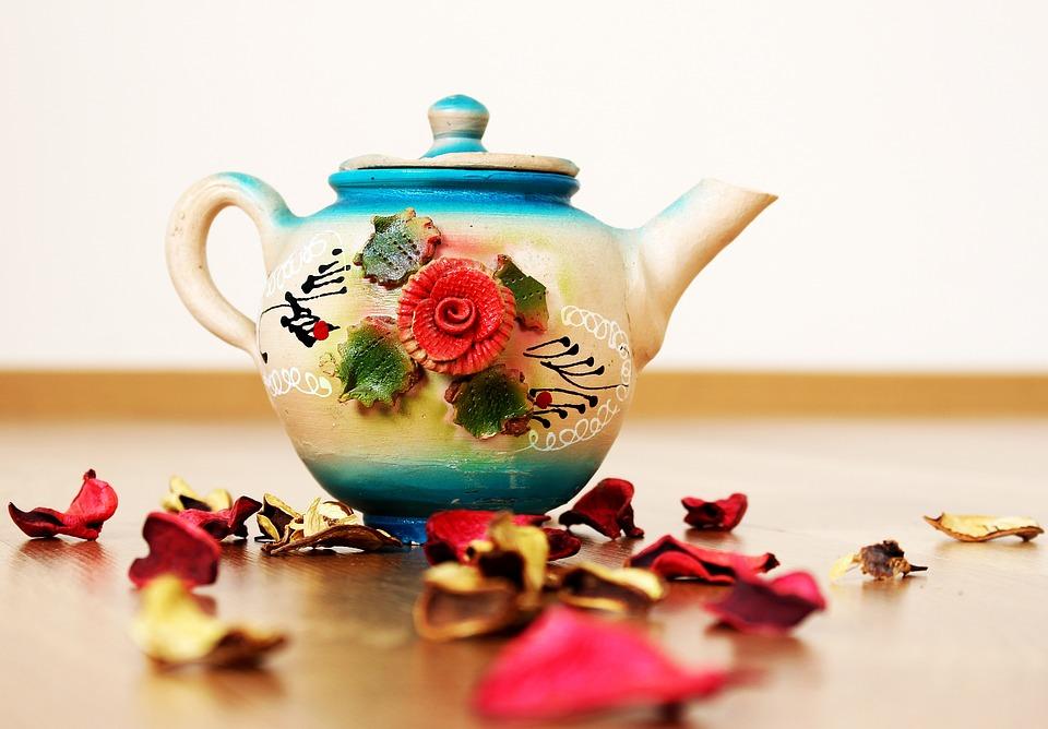 Teapot, Rose, Flower, Macro, Ornament