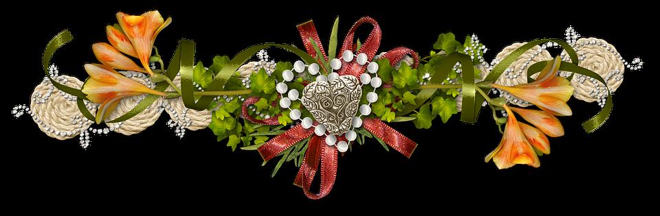 Decor, Photoshop, Ornament, Flowers, Heart, Love