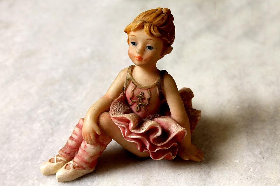 Babydoll, Ballet Dancer, Ornament, Decoration, Plaster