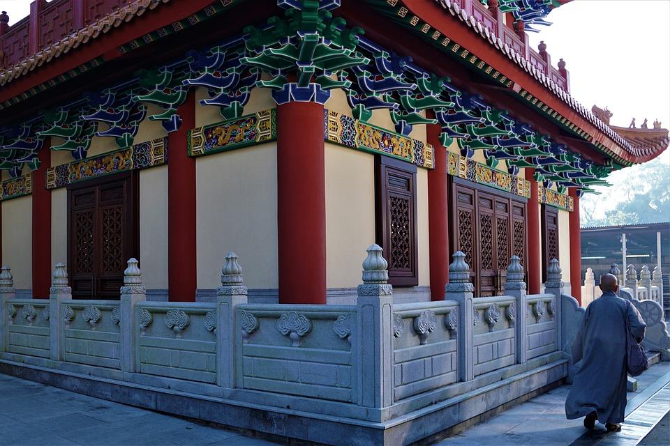 Architecture, Travel, Ornament, Wood, Monk, Religion
