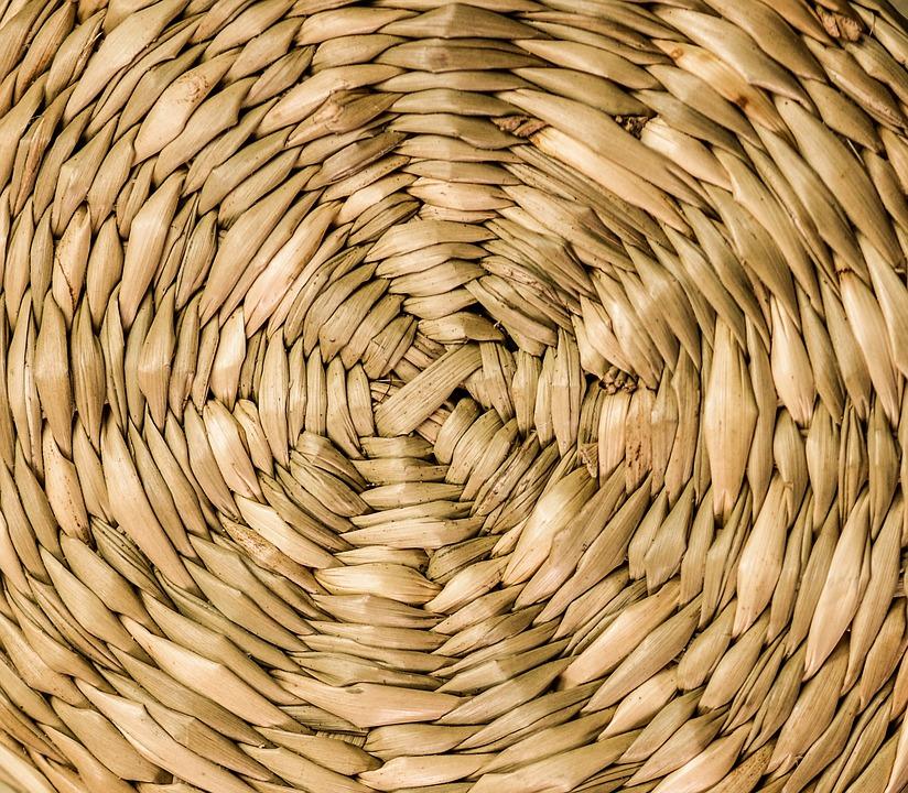 Wicker, Pattern, Ornamental, Background, Round, Design
