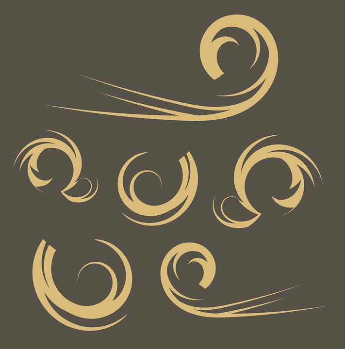 Swirls, Curves, Flourish, Ornaments, Decoration, Decor