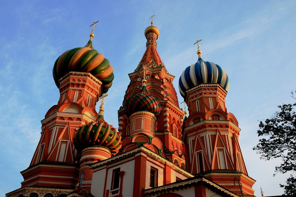 St Basil's Cathedral, Ornate, Decorative, Red And White