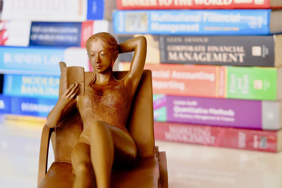 Books, Reading, Figure, Orniment