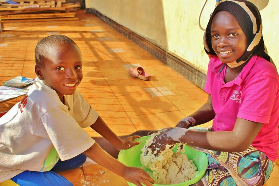 Orphanage, Africa, Tanzania, Making Bread, Baking