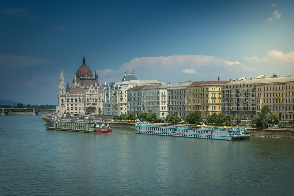 The Danube, Parliament, Országház, Budapest, Hungary