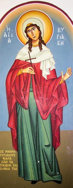 Ayia Kyriaki, Saint, Iconography, Orthodox, Church