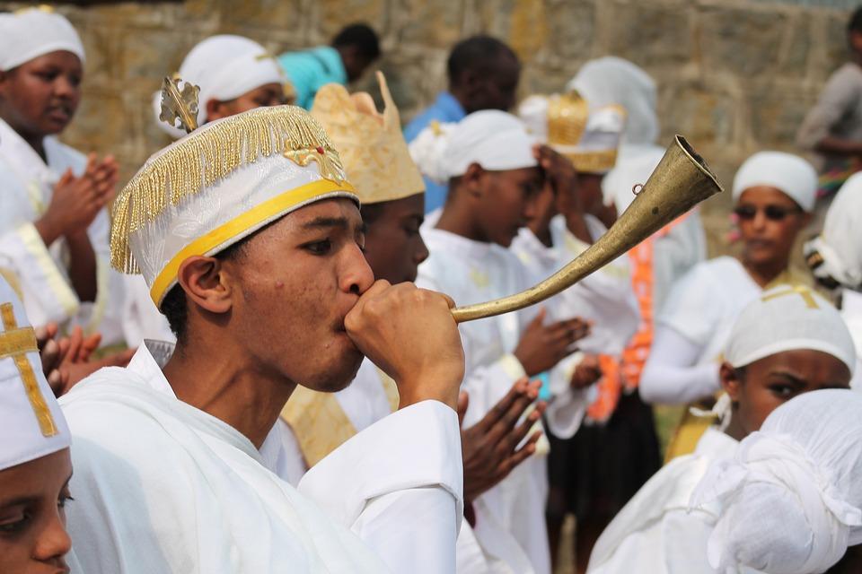 Priest, Orthodox, Ethiopia, Timkat, Ceremony