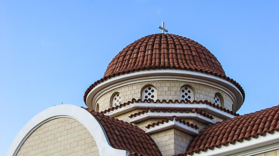 Cyprus, Church, Orthodox, Architecture, Dome