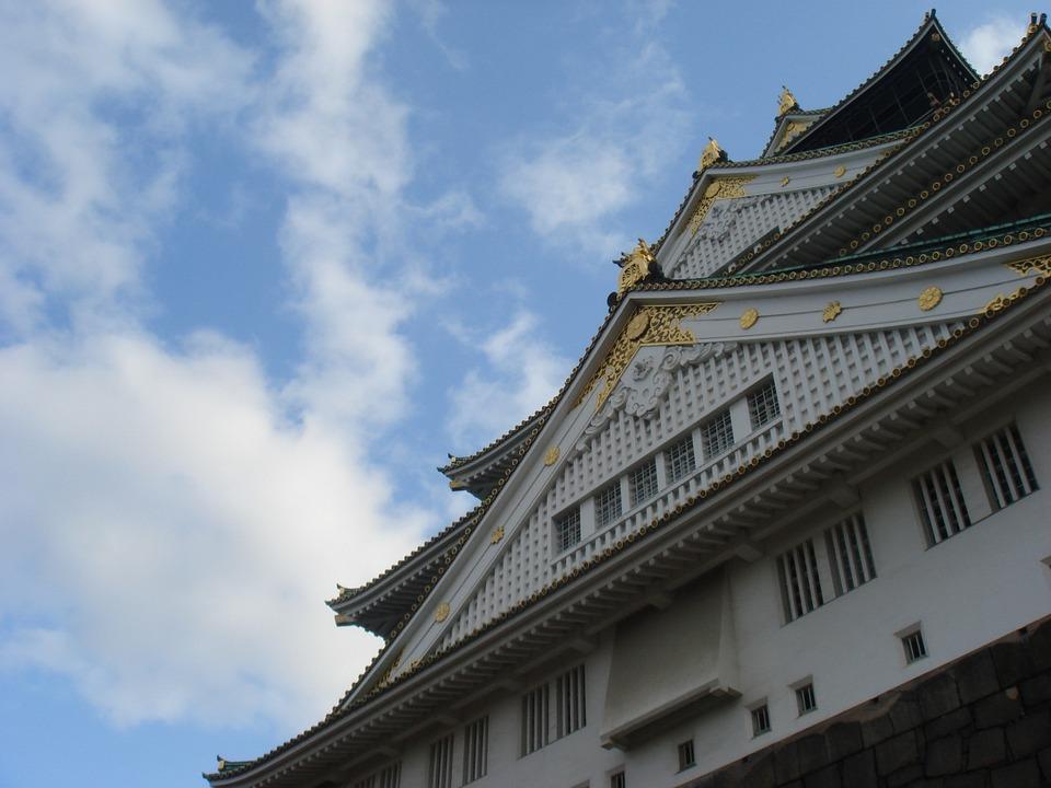 Osaka Castle, Castle, Sky