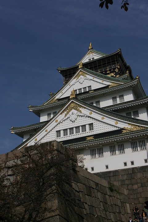 Osaka, Japan, Osaka Castle, Tourist Destination, Ruins