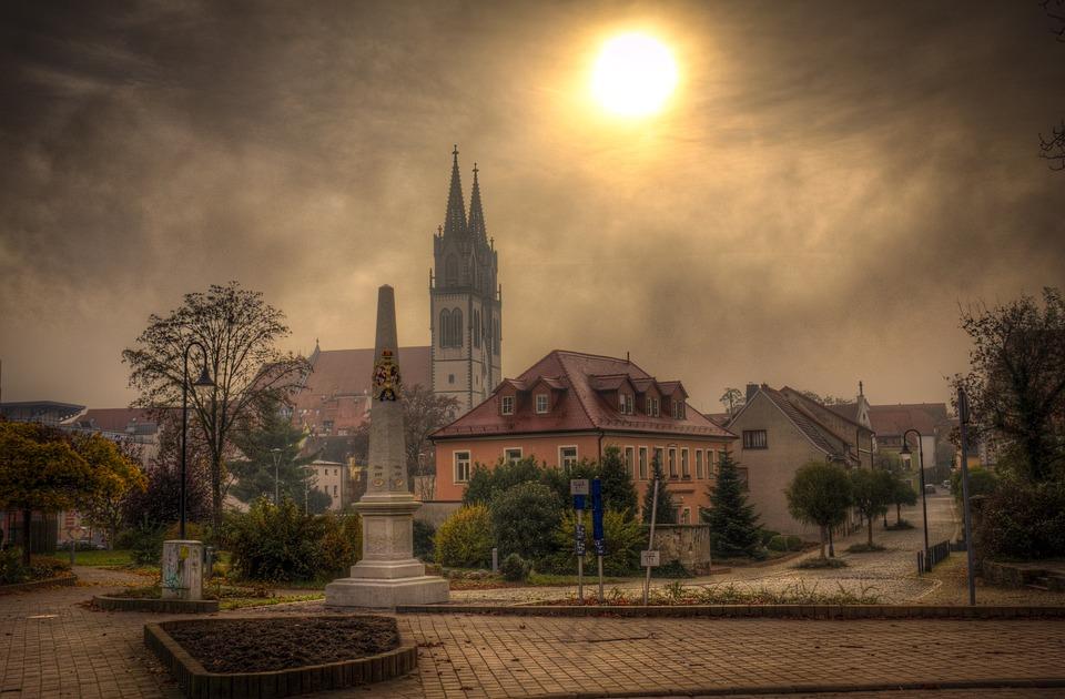 Oschatz, Saxony, Fog