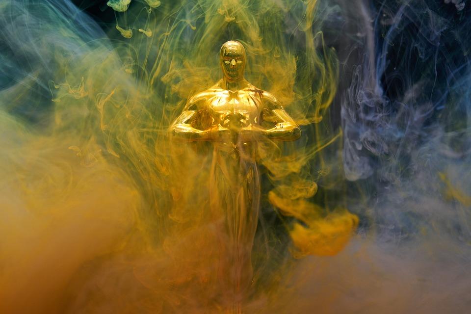 Ink, Sculpture, Oskar, Award, Ceremony, Gold, Fog