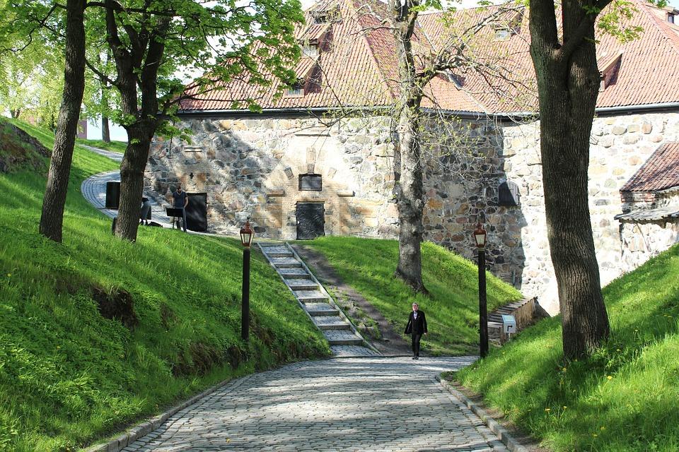 Oslo, Norway, Akershus Festning, Fortress, City, Summer