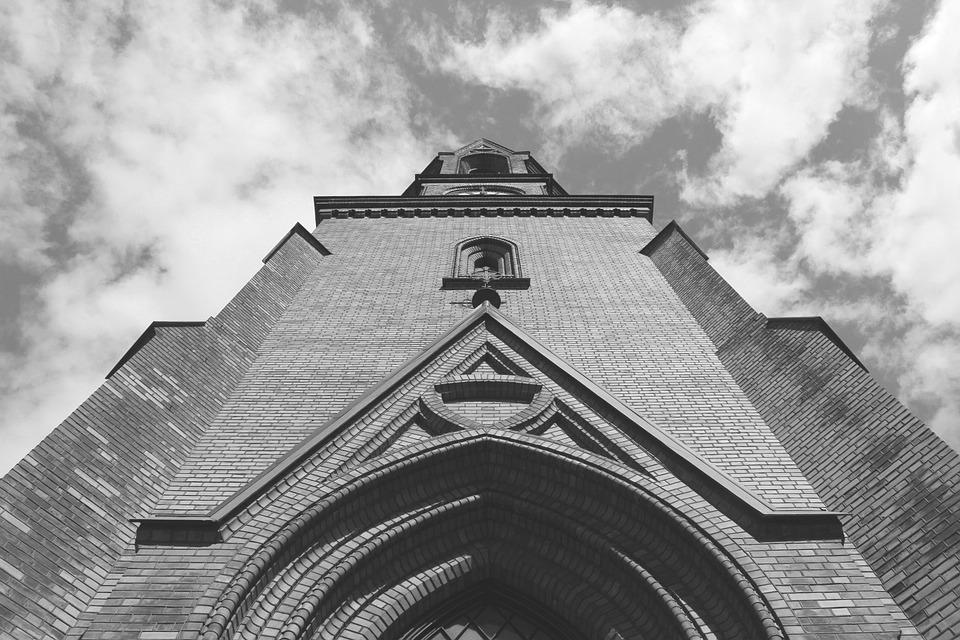 Oslo, Norway, Church, Black And White, Building, Sky