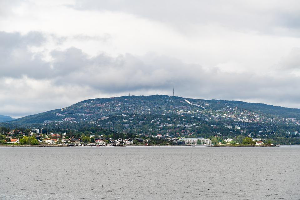 Mountain, Landscape, City, Sea, Oslo