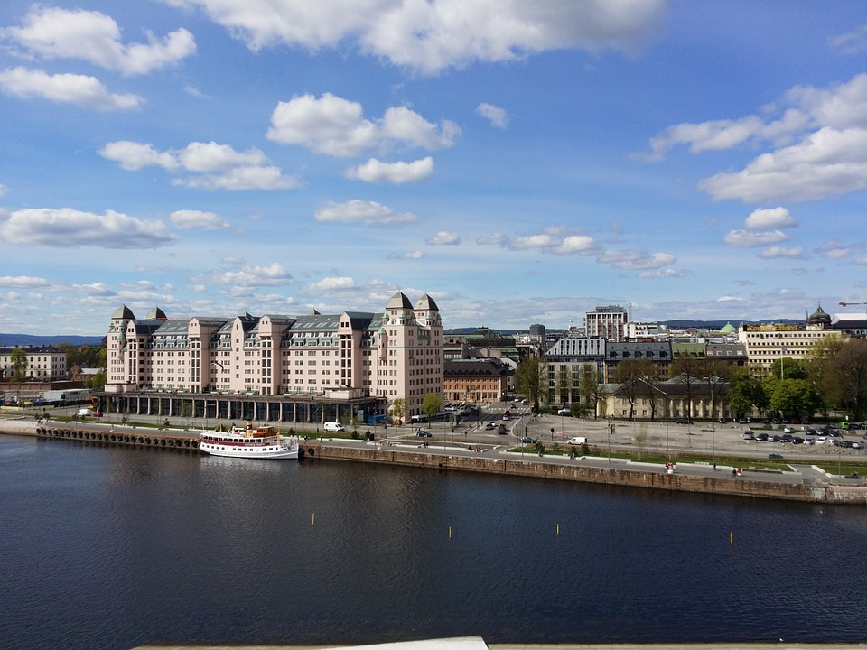 Oslo, Norway, Oslofjord, Port, City, Building