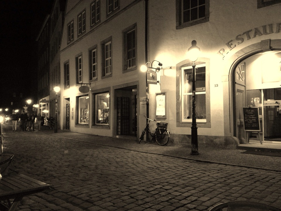 Osnabrück, Alley, Evening, Old Town, Twilight